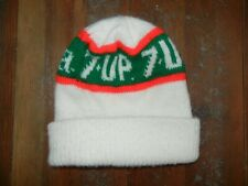 Vtg 80s 7-UP The Uncola Warm WINTER BEANIE Ski Cap Hat Soda Pop Pepsi Cola COOL