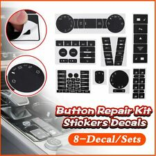 8Pcs Car Stickers For VW For Volkswagen Touareg 04-09 Decals Car Steering Wheel
