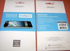 Dexim Diamond PET film screen protector for Apple iPhone 5/5s, Clear, X1