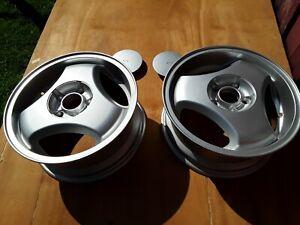 "SAAB 900 Talladega - 16"" wheels (2) w/center caps v.good condition - see photos"
