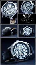 Cavadini Calendar Men's Automatic Watch Lord Caliber Miyota 9100 Black Gold