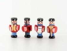 Dollhouse Miniature Fairy Garden Wooden Toy Redcoat Soldier Set of 4