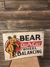 Vintage Bear Alignment Wheel Balancing Sign