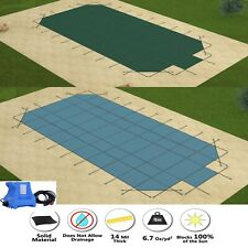 GLI HyperLite Rectangle Swimming Pool Safety Winter Cover w/ Center Step & Pump