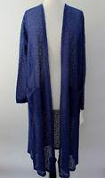 L - Large LuLaRoe Sarah Duster Cardigan Beautiful Solid Royal Blue Lace NWT 44