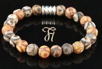 Tibet Achat Armband Bracelet Perlenarmband Buddha braun matt 8mm