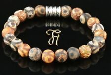 Tibet Achat Armband Bracelet Perlenarmband Buddha braun matt