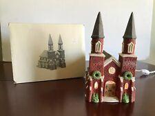 Dept 56 Dickens Village Series Brick Abbey Church Lighted Porcelain