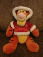 Disney Tigger Soft Toy Plush Christmas Sweater Xmas Tiger 15""