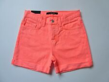 NWT J Brand Kennedy Short in Flamingo Low Rise Rolled Hem Shorts 26 $148