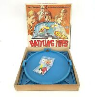Battling Tops Ideal Toy 1968 Vintage Family Board Game Incomplete No Strings