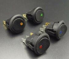 4 PACK - 12V LED Dot ON / OFF Rocker Maintained Switch (SPST)