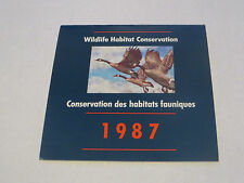 1987 WILDLIFE HABITAT CONSERVATION ON THE WING  ' CANADA GOOSE CANADA POST '