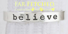Sterling Silver Ring Stackable BELIEVE Word Ring 7 Far Fetched Jewelry Taxco
