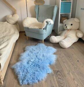 Lambskin Tibet Sky-Blue Sheepskin Monglolisches Sheepskin Curly Hair Very Soft