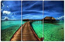 Quadro moderno  SUL PONTE 60X90 arredo casa bar viaggio soggiorno vacanza mare