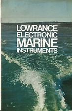 Lowrance Electronic Marine Instruments Catalog Fish Finders