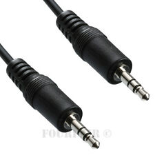 "3ft 1/8"" 3.5mm Stereo Audio Headphone Cable Cord Male to Male M/M MP3 Aux PC"
