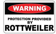 Avertissement protection prévu par Rottweiler autocollant-Sticker en Vinyle - 12 cm x 8 cm