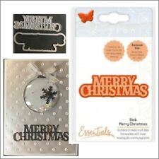 Slab Merry Christmas metal die - Tonic Studios cutting dies 1772E words,phrases