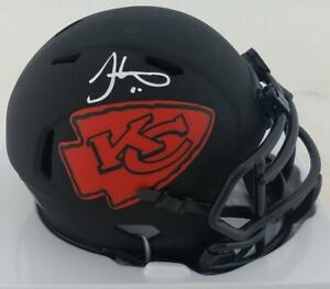 Tyreek Hill Signed Chiefs Eclipse Alternate Mini Football Helmet JSA Witness