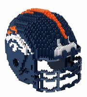 NFL Denver Broncos BRXLZ Team Helmet 3-D Puzzle Construction Toy New