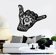 Vinyl Wall Decal Shaka Sign Hang Loose Surfing Wave Stickers Mural (ig4365)