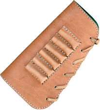 buttstock cover, 6 rifle cartridges holder, genuine leather #237-1