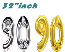 Large Foil AGE 90th Happy Birthday Party Decoration Baloons Wedding Anniversary