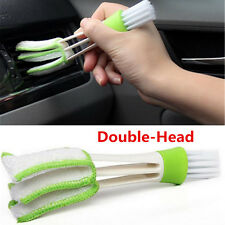 1× Double-Head Clean Brush Car Indoor Air-condition Outlet Window Care Cleaning