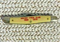 Camco USA  705 Pocket Knife 2 Blade Advertising Solvay Tyrol Club 1929-1979