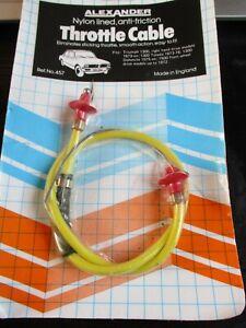 457 New Alexander Throttle Cable Triumph 1300 Toledo Dolomite 1500