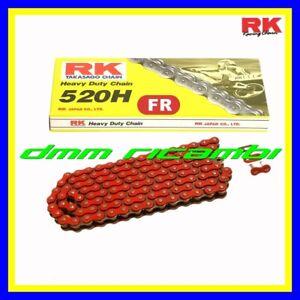 Catena rinforzata RK 520 Rossa Moto Cross Enduro Motard HONDA CR CRF 125 250 450