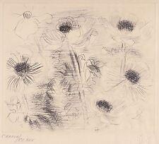GRAVURE ORIGINALE : RAOUL DUFY - Fleurs / Flowers DRY POINT ETCHING