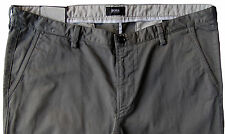 Men's HUGO BOSS Gray Grey Twill Pants 40R 40 (Euro Size 56) NWT Slim Fit RICE