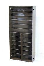 Vintage Pigeon Hole 1960 Metal Industrial Post Office Small Desktop Angled Shelf