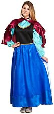 Ladies Ice Princess Fairytale Halloween Fancy Dress Costume Outfit 8-10-12