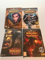 World Of Warcraft PC Bundle, Inc. Warcraft 3, Wrath of the Lich King, Cataclysm