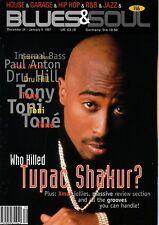 Tupac Shakur on Blues & Soul Magazine Cover 1996      Tony Toni Tone