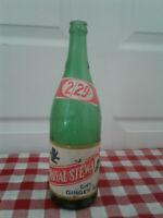 COTT BEVERAGE ROYAL STEWART DRY GINGER ALE VINTAGE GREEN SODA POP BOTTLE 32  oz