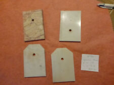 30/ lot de 4  ancien socle plaque en marbre old french marble