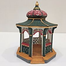 VICTORIAN GAZEBO, Lemax 1996 Porcelain Holiday Village Bldg, Used in Box