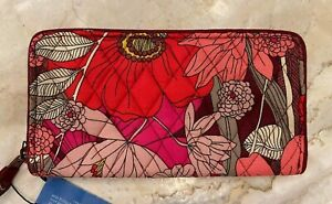 Vera Bradley RFID Georgia Wallet in Bohemian Blooms, Zip Around, NWT