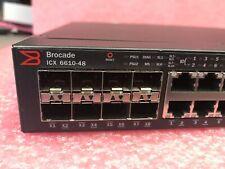 *TESTED* Brocade ICX6610-48-I 48x 1GbE Port & 8x 1GbE SFP W/ 2 PS + 2 FAN