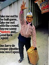 """Montreal Expos & Planters Take Me Out To The Ball Game Original Print Ad 9 x 11"""""""
