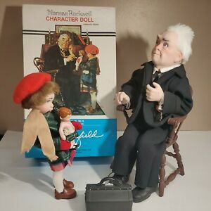 Norman Rockwell Character Dolls Dr. Chrisfield and Mimi Collectors Edition