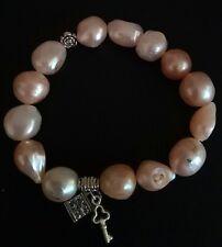 Genuine freshwater pearl natural Baroque pearl bracelet 12-15mm elastic