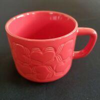 Starbucks 2018 New Embossed Valentine Red Heart Ceramic Coffee Tea Cup 12 Oz