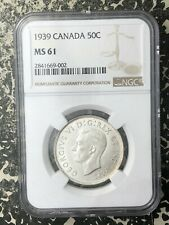 1939 Canada 50 Cents NGC MS61 Lot#RM24 Silver! Nice UNC Example!