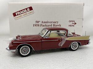 1/24 Danbury Mint 1958 Packard Hawk 50th Anniversary Maroon
